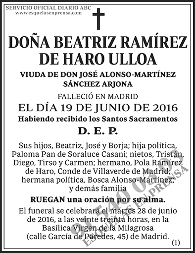 Beatriz Ramírez de Haro Ulloa